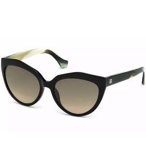 Authentic Balenciaga Ba0048 - 01b Sunglasses Black